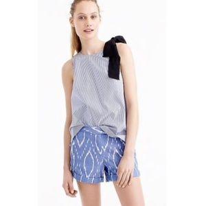 J CREW Shorts 6 Blue F2181 Sunwashed Ikat